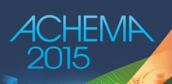 Logo von der Messe Achema 2015