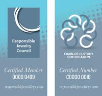 Logo vom RJC und COC Zertifikat
