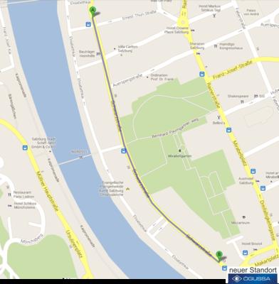 Stadtplanausschnitt Salzburg