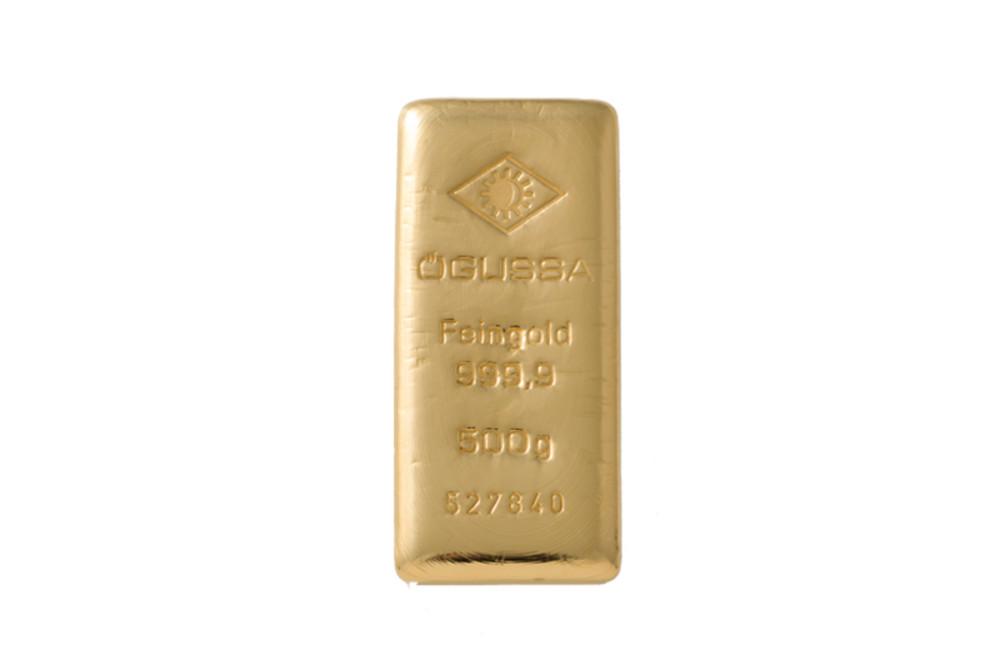ÖGUSSA Feingold Barren 500 Gramm